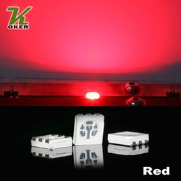1500PCS 15-18LM Red PLCC-6 5050 SMD 3-CHIPS LED Lamp Diodes Ultra Bright SMD 5050 SMD LED Free shipping