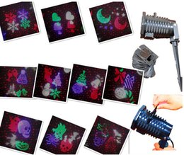 Wholesale Alien Wireless Control Laser IP44 Christmas Lights Red and Green Outdoor snowflake projection lamp Christmas projection lamp