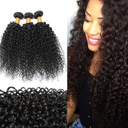 New 7A Brazilian Hair Products Mongolian Kinky Curly Hair Extensions 3 4pcs Afro Kinky Curly Virgin Human Hair Weaves Natural Black