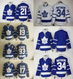 Wholesale 2016 Ice Hockey Jerseys Men s Maple Leafs Joffery Lupul Wendel Clark James van Riemsdyk Auston Matthews Stitched Jersey