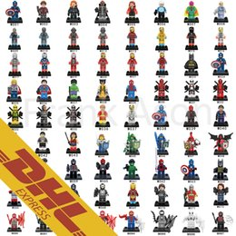 500pcs lot Minifig Marvel DC Super Heroes NEXO Knights Batman Ironman Spiderman Deadpool Mini Building Blocks Figures Toy for Kids