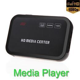 Wholesale Full HD P Multi Video Media Player Center RM RMVB AVI MPEG with HDMI YPbPr VGA AV USB SD MMC Port Remote Control