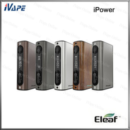 Wholesale 100 Original Eleaf iPower TC VW Mod W mah Battery For Long Sustainable Battery Life Upgradeable firmware Newly Added Reset Function