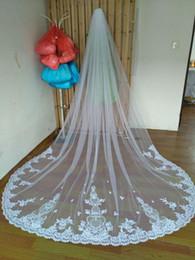 New Best Sale Romantic mantilla veil White Ivory Wedding Veil Lace Edgechapel Bridal Veil With Comb applique scallop Meidingqianna Brand