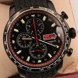 Wholesale New style luxury watches men quartz chronograph watch miglia gran turismo sport rubber band wristwatch floding clasp