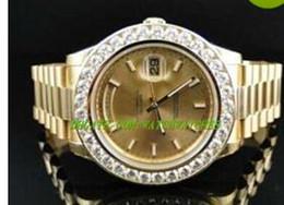 Luxury MAN WATCH New Mens President 2 II Solid 18 kt 41MM Diamond Watch Gold Dial DF8