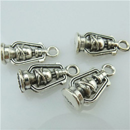 Wholesale 14791 Alloy Antique Silver Vintage Mini Oil Lamp Ancient Oil Lamp Pendant