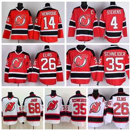 Wholesale 2016 New Jersey Devils Hockey Jerseys Cheap Adam Henrique Patrik Elias Jersey Red White Cory Schneide Scott Stevens