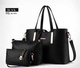 Wholesale 3pcs set composite bag Women Lash Package PU Leather Bags Crocodile Pattern Handbag Shoulder Crossbody Bag Clutch Bag