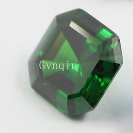 100pcs lot free shipping AAA cubic zirconia green asscher cut loose gem stones