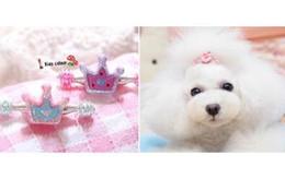 20pcs Wholesale South Korean Dog hair accessories Pet resin flash powder edge clip hair clip spring clip