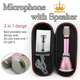 Wholesale 2 in K068 Wireless speaker microphone with Mic Speaker Condenser Mini Karaoke Player KTV Singing Record for Smart Phones Computer