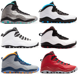 Wholesale 2016 cheap air retro mans Basketball Shoes Ice Blue Chicago ovo white black Retro X Sneakers sport shoes athletics boots Size