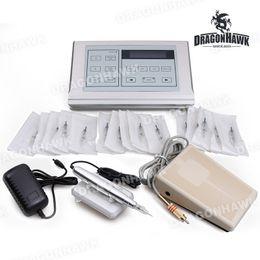 Makeup Tattoo Kit Permanent Eyebrow Professional Kit Tattoo Rotary Machine Digital LCD Power Supply Needles YTJ-2