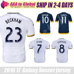 Wholesale Galaxy soccer jersey top thai quality Los Angeles Galaxy Football shirt GERRARD KEANE Jerseys LA Galaxy BECKHAM shirts