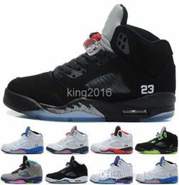 2017 chaussures de sport pas cher 2016 Cheap Retro 5 V OG Black Basketball Shoes métalliques pour les hommes, de haute qualité Oreo Retros 5s Sport Athletics Sport chaussures pour hommes 8-13 bon marché chaussures de sport pas cher