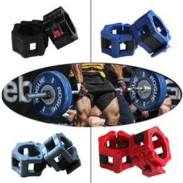 Wholesale mm Olympic Barbell Clamp Collar Clip Weight Dumbbell Spinlock Lift guantes gym weight lifting body building