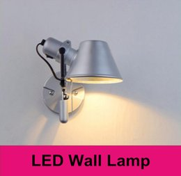 Wholesale LED bulbs wall lamp indoor bed lamps E27 W aluminium lamp shade