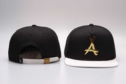 Wholesale Tha Alumni Snapback gold A Adjustable hats men s and women sports baseball caps Hip hop bboy street dancer cap