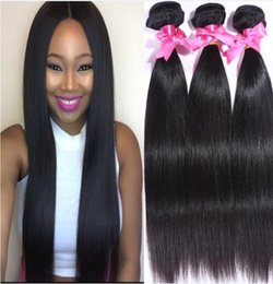 Indian Straight Hair Weaves 8A High Quality 100% Unprocessed Human Hair Extensions 8-30inch Dyable Full Thick Soft