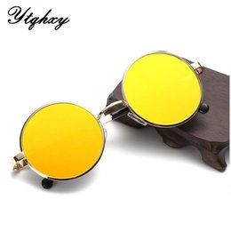 Wholesale Retro Round Sunglasses Women Men Brand Designer Sun Glasses For Women Color Alloy Mirror Sunglasses Ray Female L