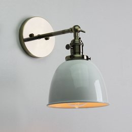 Wholesale Loft Rustic Edison Wall Light lamp Bulb Lampshade Holder Lowest Price E27 Retro Vintage Antique Industrial Bowl wall Sconce