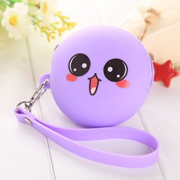 Wholesale Girls Portable Mini Round Animated Cartoon Coin Purse Zippers Cute Storage Bag Key Wallet Silicone Originality