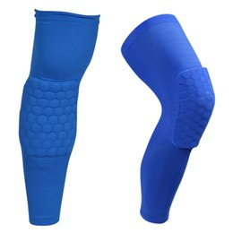 2016 Long Honeycomb Crashproof Antislip Basketball Leg Knee Long Sleeve Protector Gear Honeycomb Pad hight quality Free Shipping