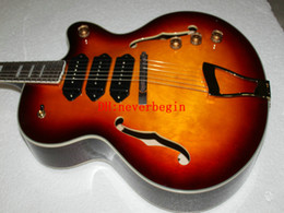 Newest Custom Shop Hollow 3 Pickups Jazz Electric Guitar IN Vintage High Quality jazz guitar A7890
