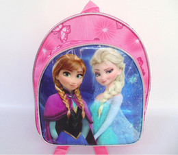 Wholesale Elsa anna backpack kids children shoulder bag tote bag party bag school child bag lunch bag snack bag backpack pencil bag