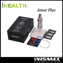 Mejor rba en Línea-Wismec Amor Plus Atomizer 3.8ml Capacidad de recarga superior con Ni Ti RBA cabeza de la bobina Mejor para Presa TC 75w RX200 Mod