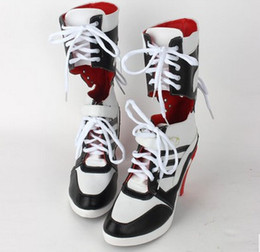 Fast Shipping Warner Bros. Movie Suicide Squad cosplay Harley Quinn cosplay shoes boots DC Comic Batman Suicide Squad