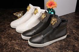 Wholesale New Paris male shoes New Design High Top Shoes Bootie PVC Suede Leather Walk Sport Shoes Men Fashion Lace Up Casual Men Flats