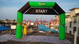 Wholesale 6m Length x m Height built In Air Blower Advertising LOGO Inflatable Line Arch with Banner Start FINISH