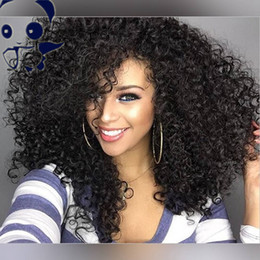 8A Indian Glueless Full Lace Human Hair Wigs For Black Women Short Afro Kinky Curly Lace Front Bob Wigs With Baby Hair