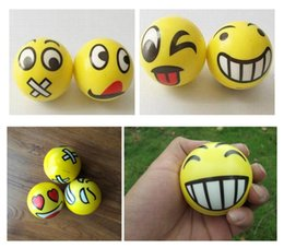 Wholesale Emoji Faces Squeeze Stress Ball Hand Wrist Finger Exercise Stress Relief Therapy Assorted Styles New Christmas party gifts LC361