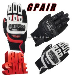 Wholesale GP AIR MOTO Alpine Motorcycle Racing Gloves Top Leather Black Red White Motocross Motorbike Guantes Urban Riders Luvas stars