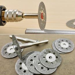Wholesale 12 Rotary Tool Circular Saw Blades Cutting Wheel Discs Mandrel for Dremel Cutoff PJ