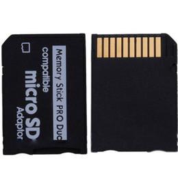 MicroSD TF MicroSDHC à Memory Stick PRO Duo adaptateur ProDuo adaptateur lecteur de carte mémoire lecteur 1000pcs / lot à partir de adaptateurs duo memory stick fournisseurs
