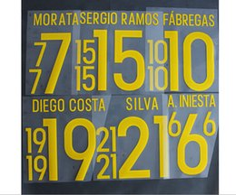 2016 Euro Championship Spain HOME, AWAY Custom soccer Nameset Customize Name A-Z Number 0-9 Print Player nameset