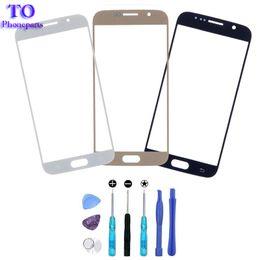 Promotion nouveaux écrans lcd 10pcs / lot Nouveau LCD de remplacement écran tactile avant Outer lentille en verre pour Samsung Galaxy S6 G9200 G920 + Tools Expédition gratuite