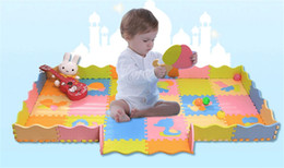 Wholesale 2016 Hot D EVA Puzzle Baby Play Mats Cute Animals Exercise Mats Best Quality Waterproof Anti Bact Floor Mat Puzzle Toys for Children
