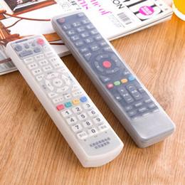 2016 silicone couvre pour les télécommandes Vente en gros-Nouveau 19 * 5.5 * 1.5cm TV télécommande étanche Poussière Silicone peau cas de protection de protection en gros silicone couvre pour les télécommandes promotion