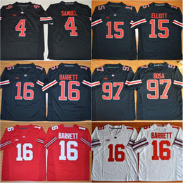 Wholesale Blackout Gear Curtis Samuel Mike Weber J T Barrett Nick Bosa New Ohio State Buckeyes College Football Stitched Jerseys