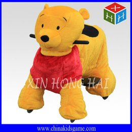 Wholesale Hot sale electric animal ride plush motorized animal kids batter Winnie bear car coin operate animal ride