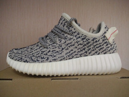 Wholesale Kids Size Hot Kanye West Boost Turtle Dove Best Quality With Original Box Receipt Running Shoes Sneakers Youth Boots