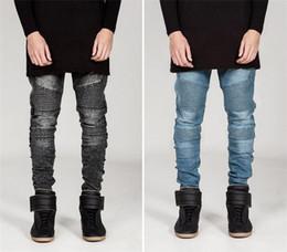 NEW SALE jeans for men Fashion Famous Desginer models men's pants streetwear ripped zipper Demin Trousers men Apparel