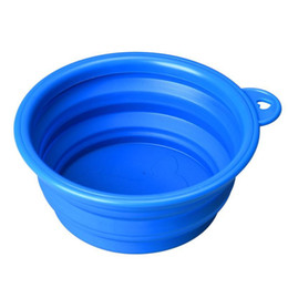 Wholesale-Super Deal dog bowl,Dog Cat Pet Travel Bowl Silicone Collapsible Feeding Water Dish Feeder portable water bowl pet