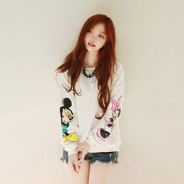 Wholesale 2016 Mickey new cartoon Miss Bai Se autumn thin section hedging sweater coat female loose fashion
