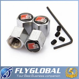 Wholesale 2016 Theftproof Stainless Steel Car Wheel Tire Valves Tyre Stem Air Caps Airtight Cover For BMW modifications m best quality